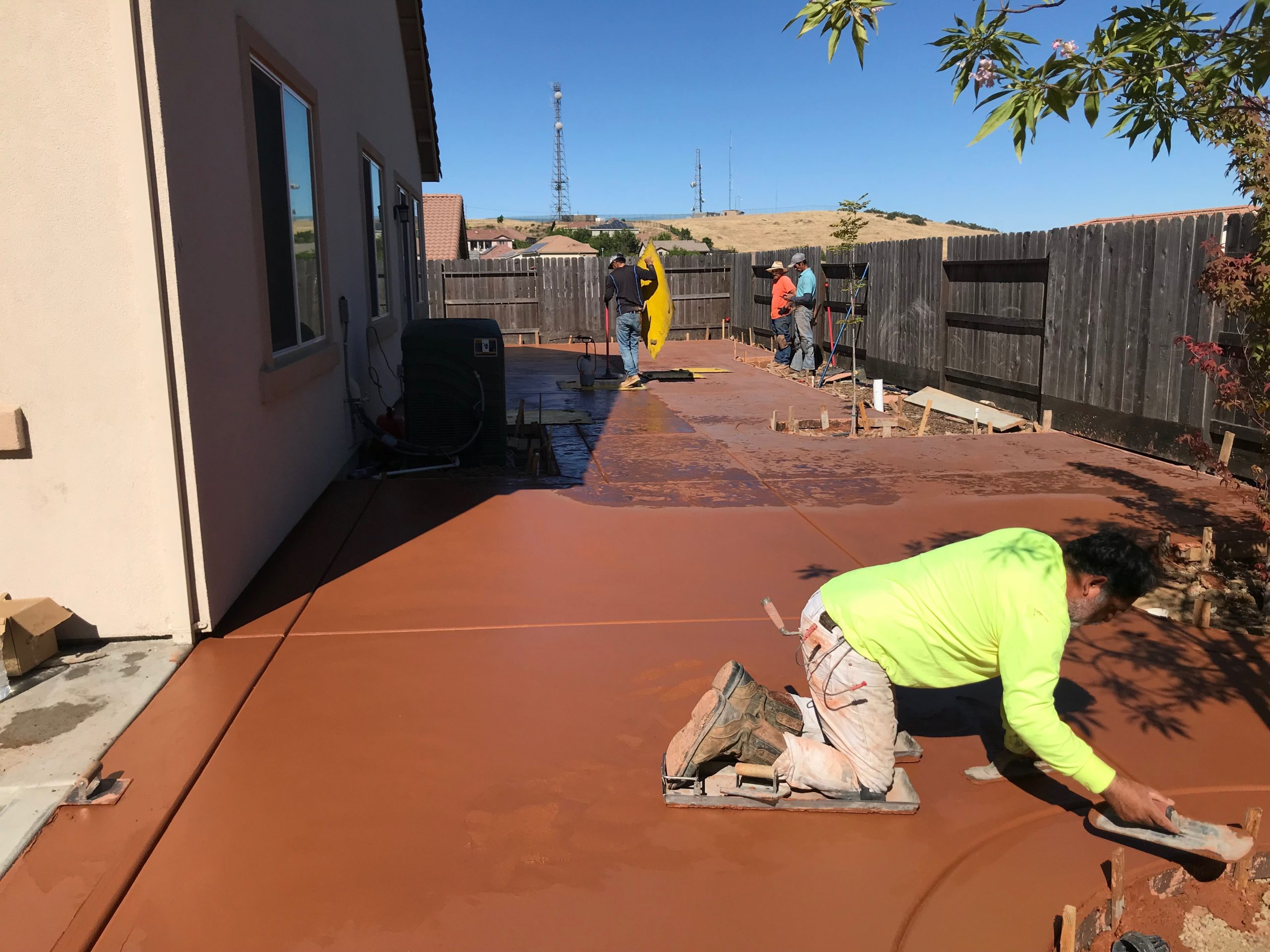 An image of stained concrete in Union City.